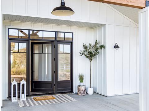 Exterior design by Temecula, California based staging and interior designer Laura Lochrin Interiors.