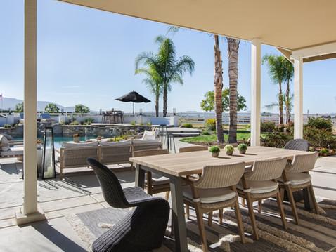 Exterior patio by Temecula, California based staging and interior designer Laura Lochrin Interiors.