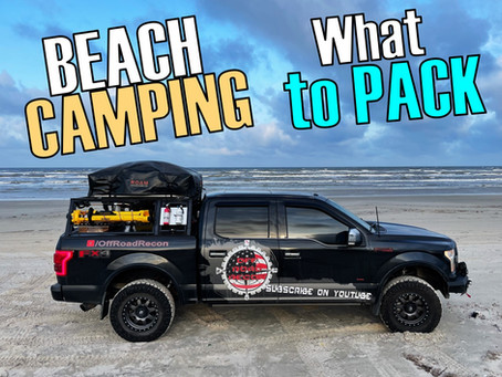 Tips for Beach Camping: 4 THINGS You Can't FORGET!