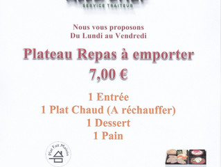PLATEAUX REPAS A EMPORTER A 7,00 €