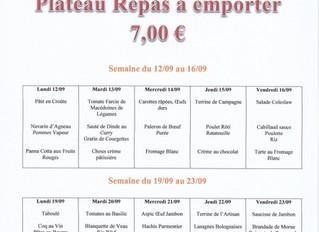 Planning Plateau Repas