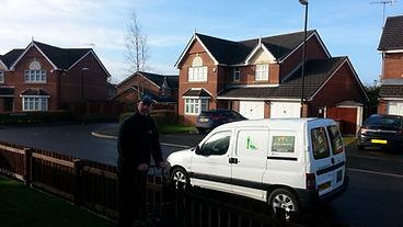 Greenscape van and gardener Chester