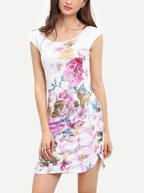 24h Floral Print Sheath Dress