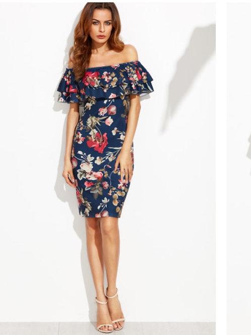 Váy Hoa Trễ Vai Bèo