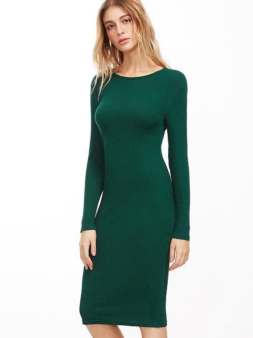 24h Green Pencil Dress