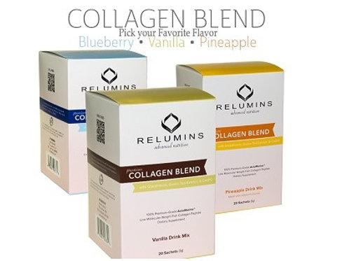 Relumins Premium Collagen Blend - 10 Sachets - 100% Premium-Grade ActuMarine Col