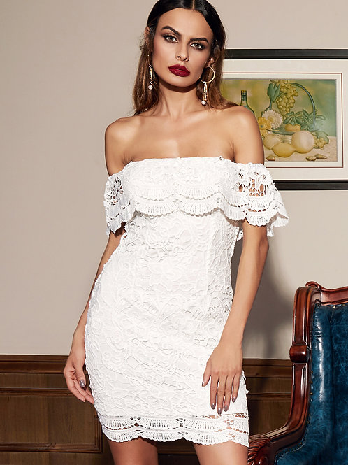 24h White Bodycon Dress