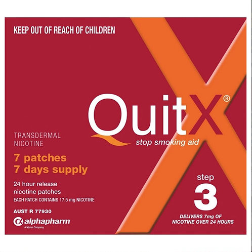 QuitX Patches Step 3 - 7x 24hr 7mg patch