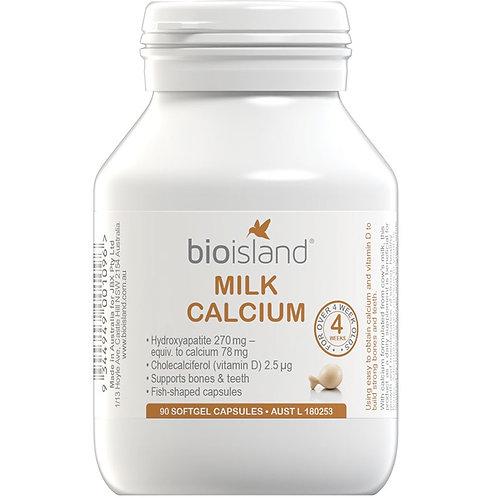 Bio Island Milk Calcium 90 Capsules