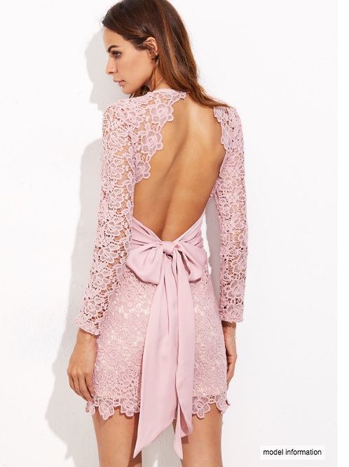 Váy Ren Hồng