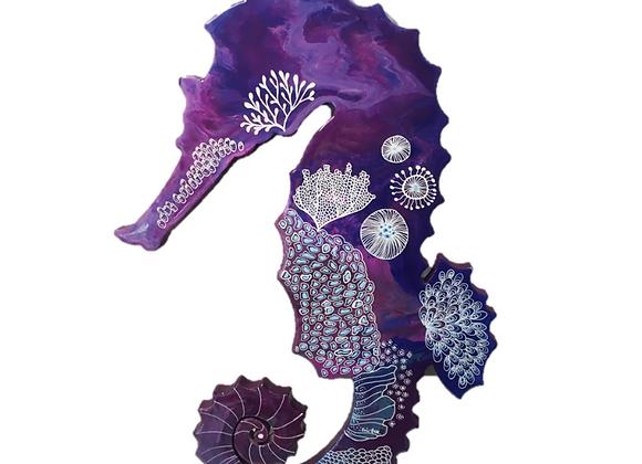Purple Coral Sea Horse