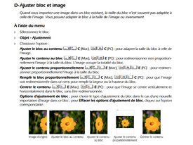 InDesign ajuster bloc et image