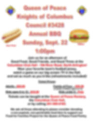 2019 KNIGHTS OF COLUMBUS COUNCIL BBQ FLY
