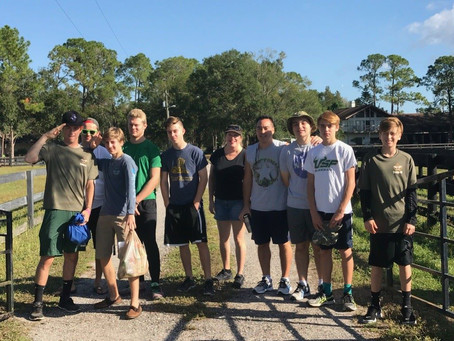 Thank You to Tampa's Boy Scout Troop 46 Volunteers!