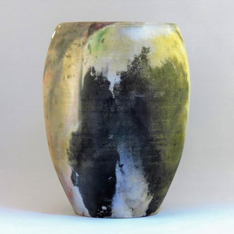 Pit fired porcelain vessel 25cm