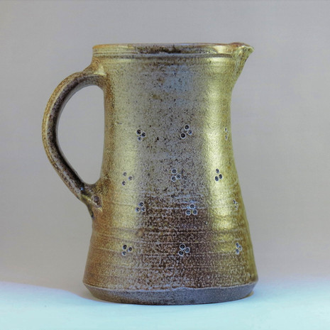 Wood fired saltglazed jug 20cm