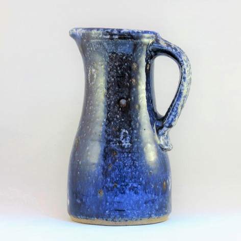 Reduced blue jug 25cm