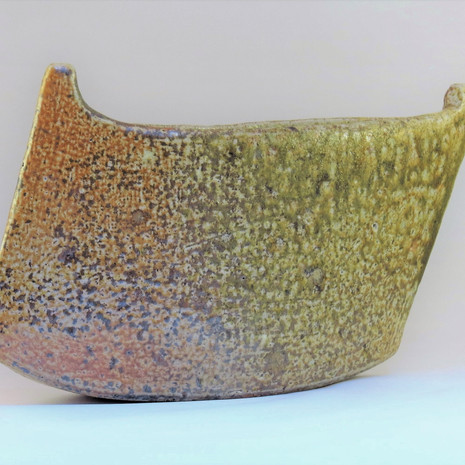 Wood fired boat form reverse view