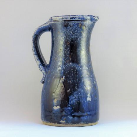 Blue jug reverse view
