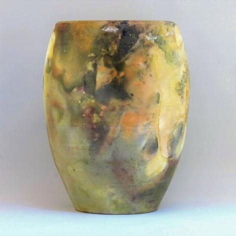 Pit fired porcelain vessel reverse detail