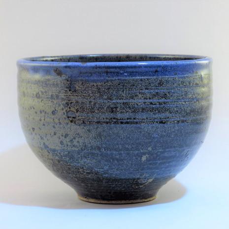 Reduced blue stoneware bowl 20cm dia