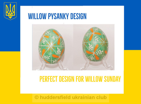 Willow Sunday Pysanka Design