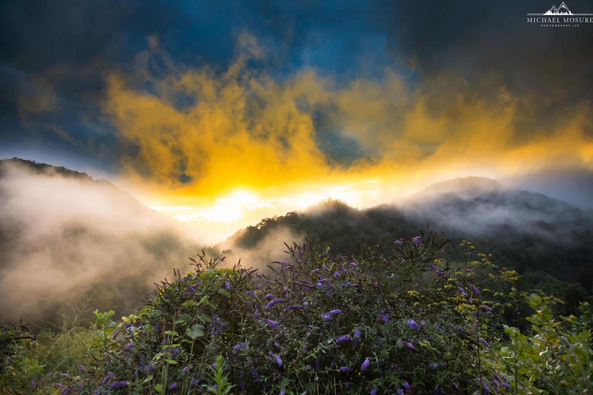 Blowing Rock Misty Sunset