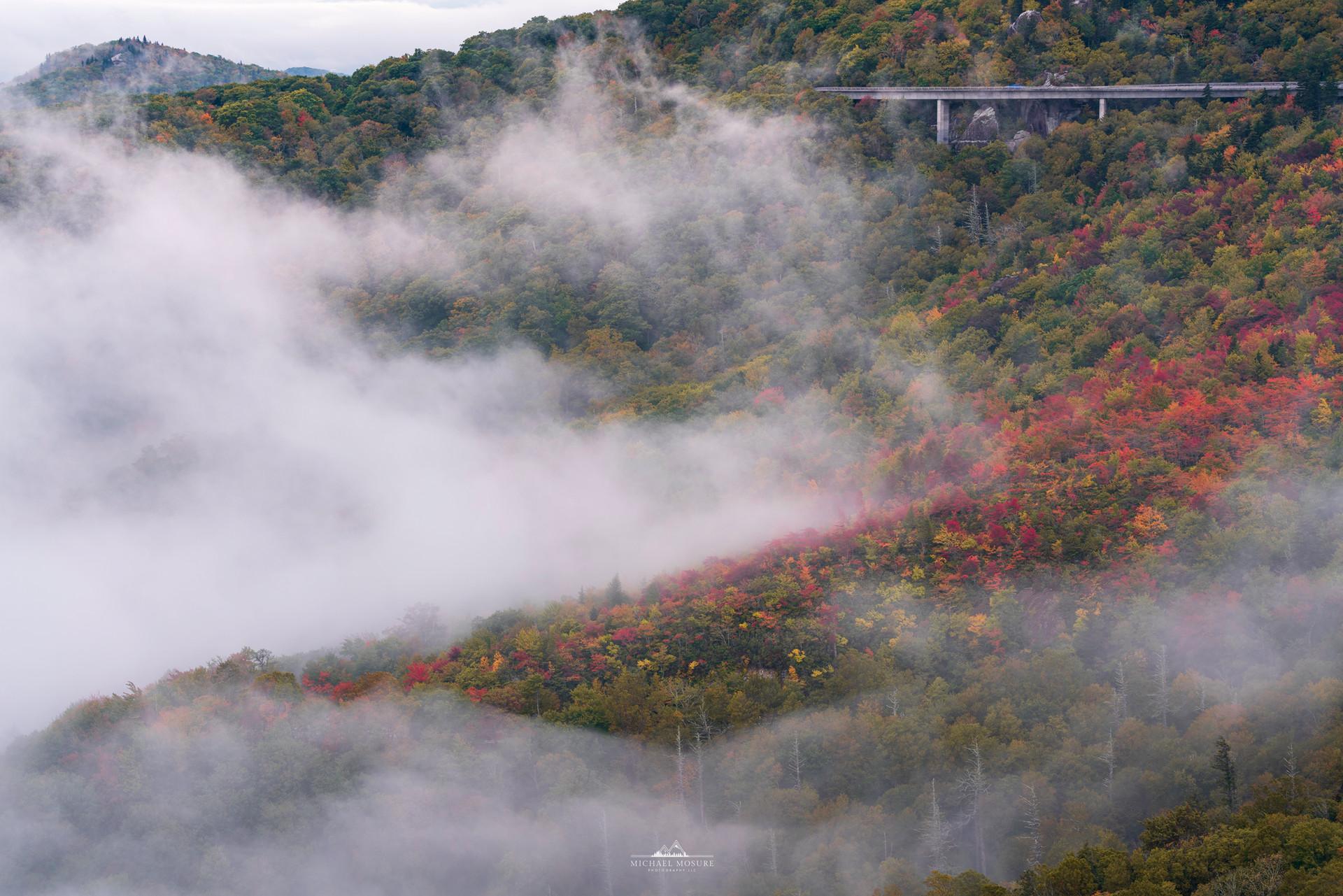 Cloudy Fall Linn Cove