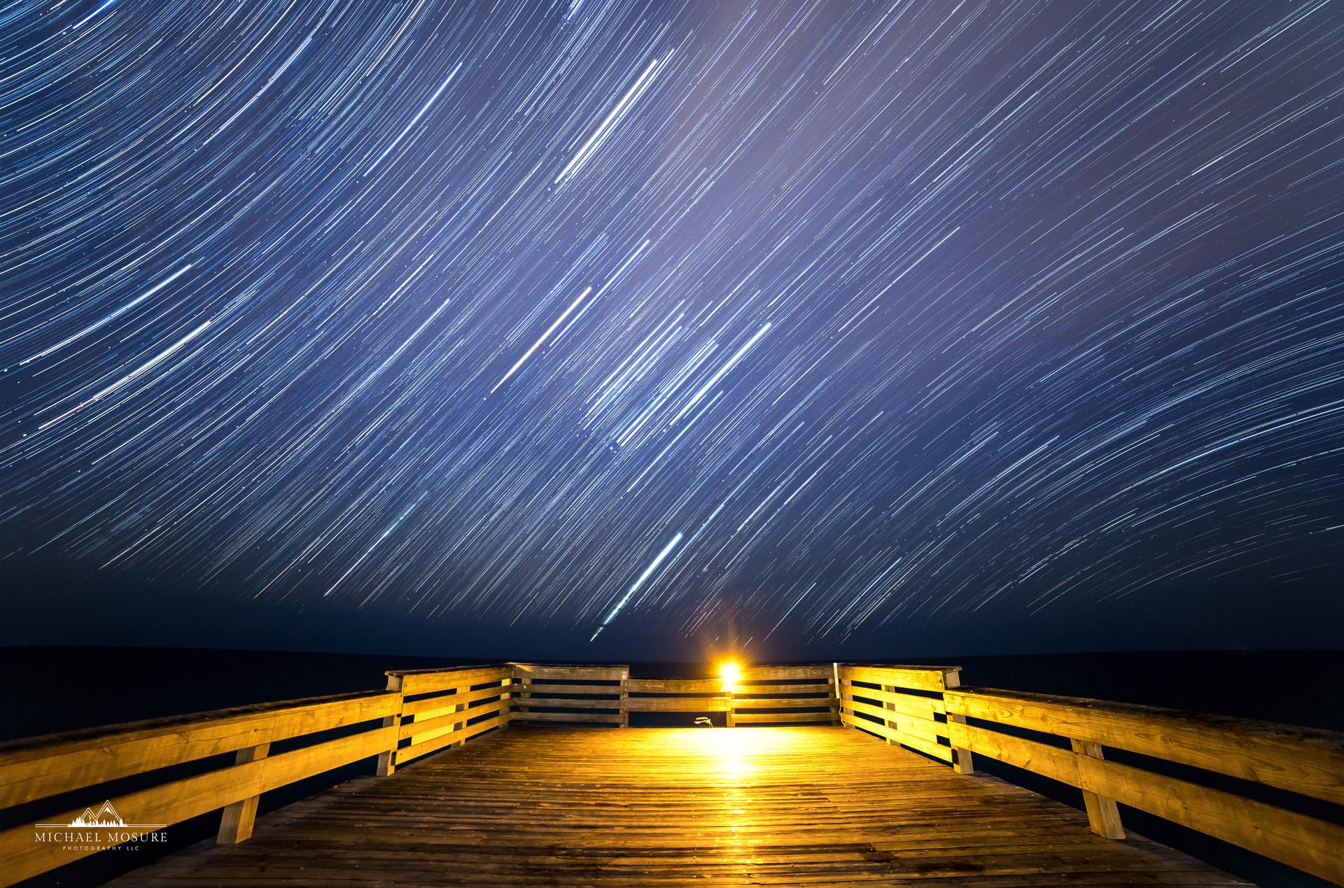 Crystal Pier Star Trails, Wrightsville Beach