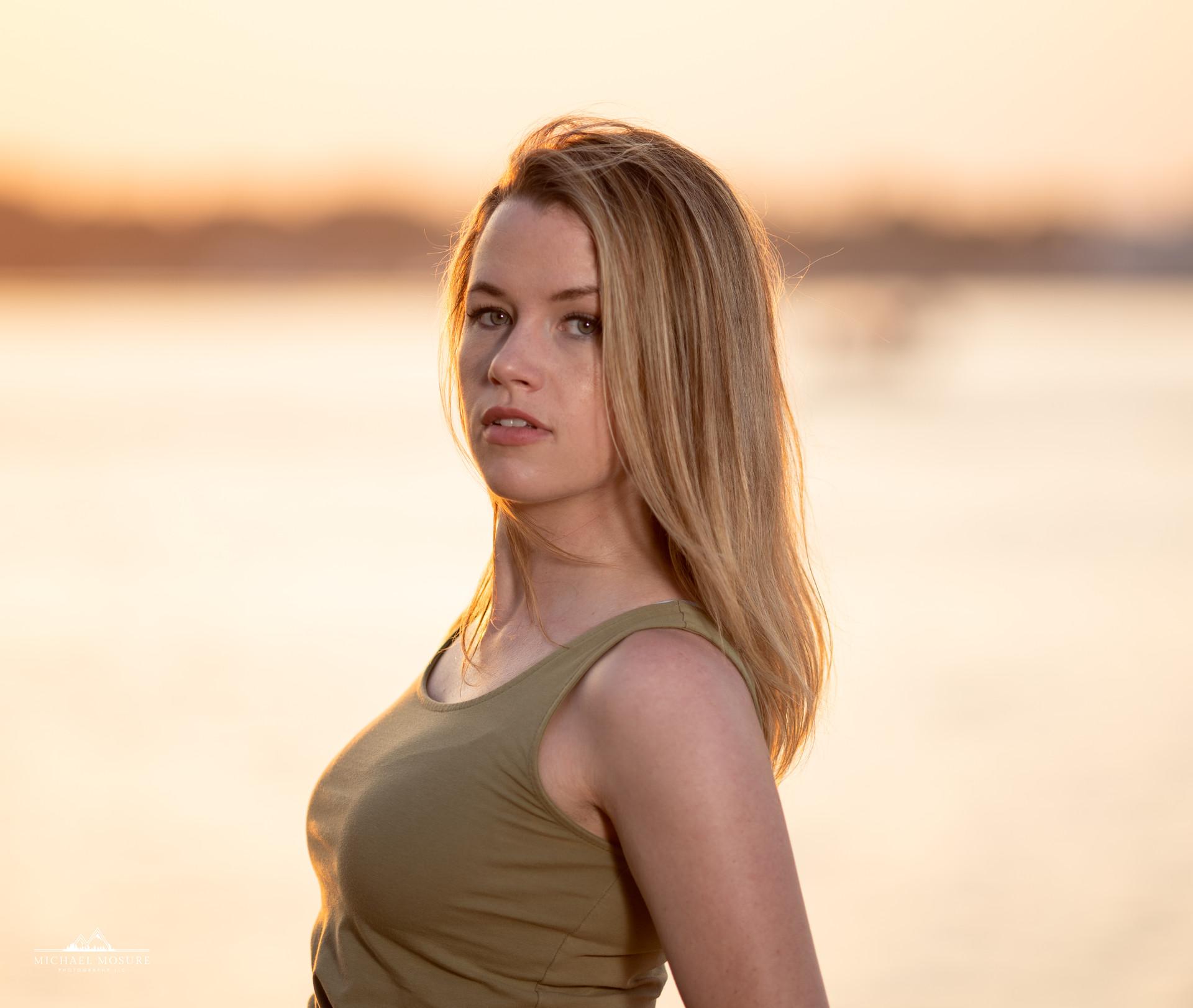Coastal Sunset Portrait