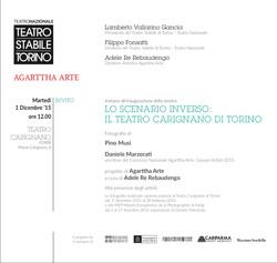 INVITO Mostra Teatro Carignano