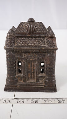Cast Iron Coin Castle Bank Ca 1895