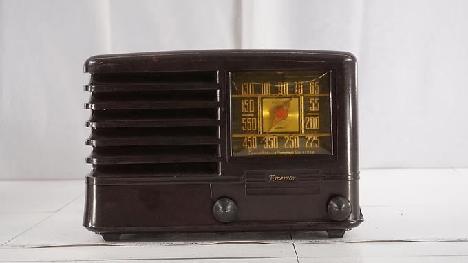 1940s Emerson Tube Radio Kilocycle Meters Model Bs409 - Work