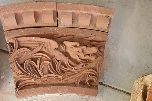 Architectural Red Terracotta - Dragon Ornament