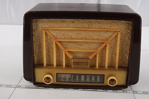 1951 Westinghouse Tube Radio - Model H-327 T6 U - Asis