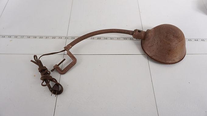 1930s Flexible Neck Clamp Desk Lamp