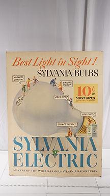 1940s Sylvania Bulbs Advertising Sign