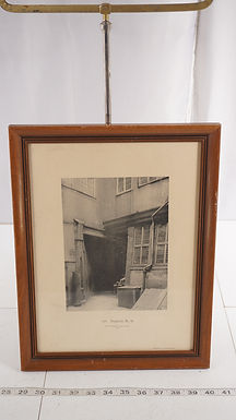 1901 Framed Black And White Print Of Building In Switzerland