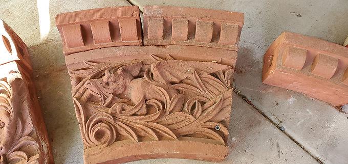 Architectural Red Terracotta Façade - Dragon Ornament