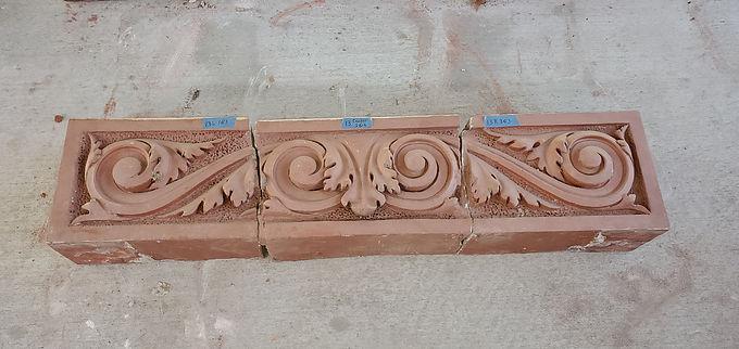 Architectural Red Terracotta Façade - Ornamental Cornice