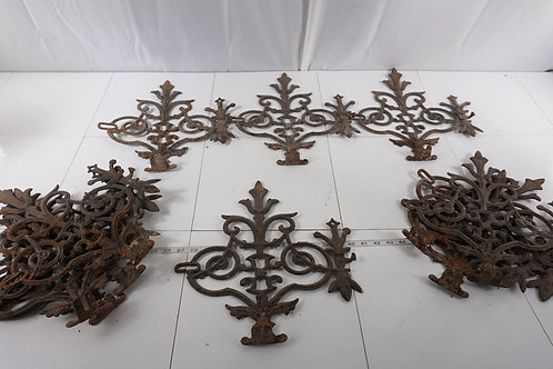 1880s Wrought Iron Victorian Fence - 11 Pcs