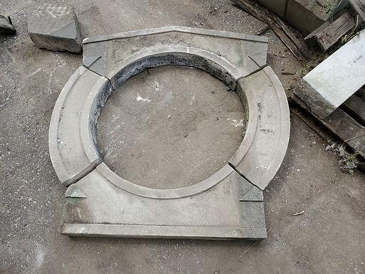 Architectural Stone Façade - Ornamental Round Window Frame