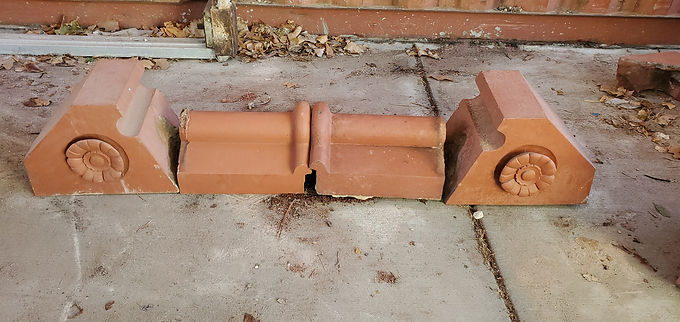 Architectural Red Terracotta - Ornamental Roof Finials With