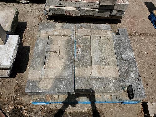 Architectural Stone Façade - Ornamental E T Letters