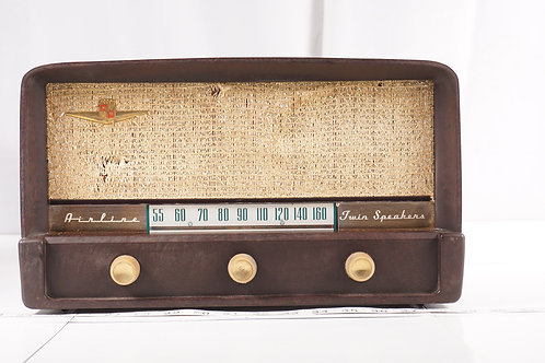 1950s Wards Airline Twin Speakers Radio - Asis