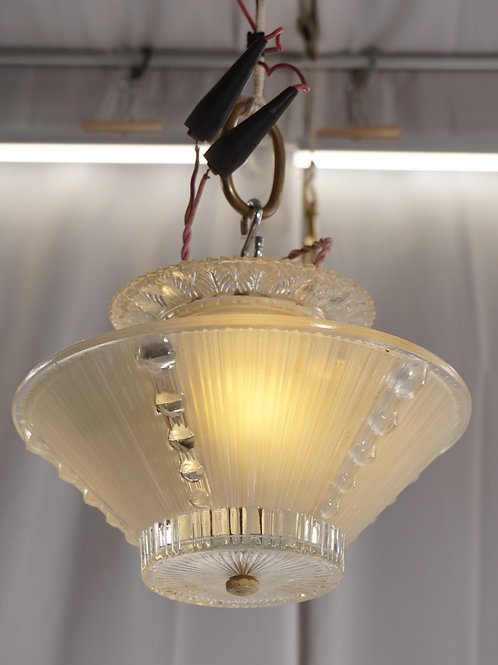 1940s Art Deco Ceiling Light Fixture