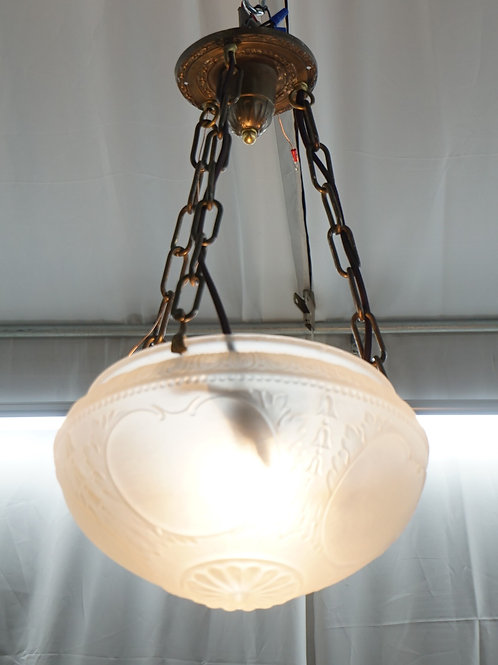 1910s Inverted Dome Light Fixture