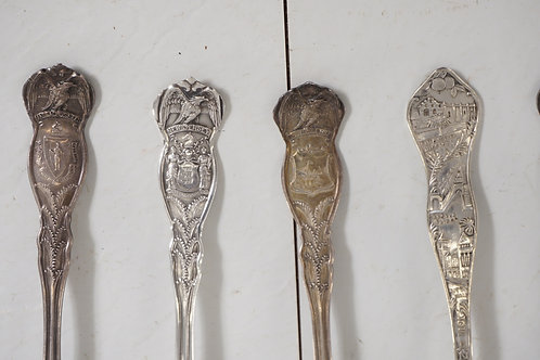11 Silver Plated Collectible Spoons