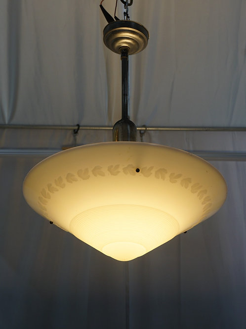 Art Deco Pendant Light Fixture Ca 1930s Mfg By Phoenix Glass Co