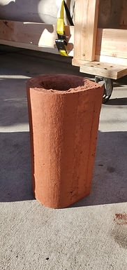 Architectural Red Terracotta - Round Roof Finial Block